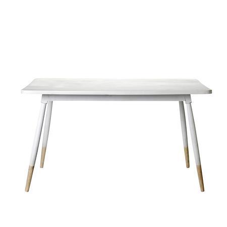 Biały drewniany stół NORTH & SOUTH HOME