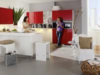 Białe i czerwone meble kuchenne  kuchnia biało-czerwona Nolte Kuchen