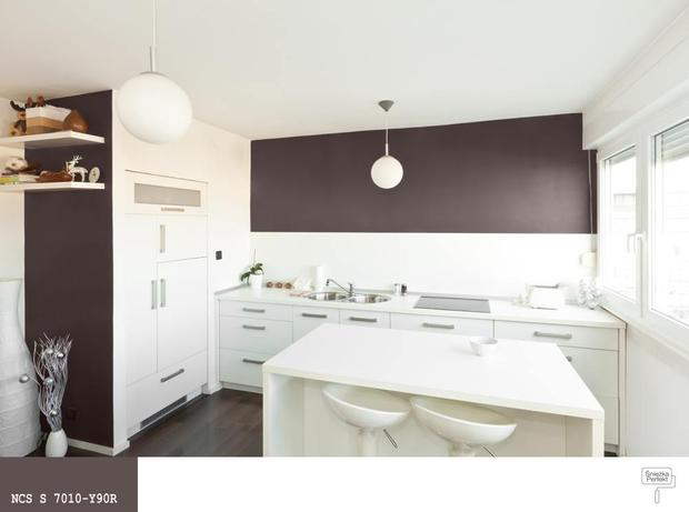 Kolorowe aranżacje kuchni Jaki kolor farby do kuchni? -> Szara Kuchnia Jaki Kolor Ścian