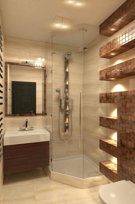 Nowoczesna łazienka w beżu - stylowy wystrój łazienki