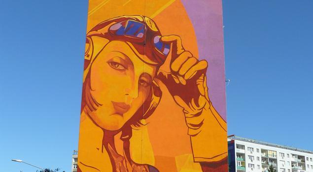 Awiacja II RP – monumentalny mural z farb marki Primacol