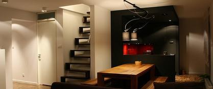 Nowoczesna ale ciepła przestrzeń apartamentu Major Architekci